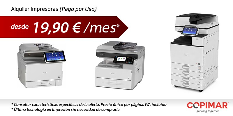 Alquiler servicios de impresión en Valencia