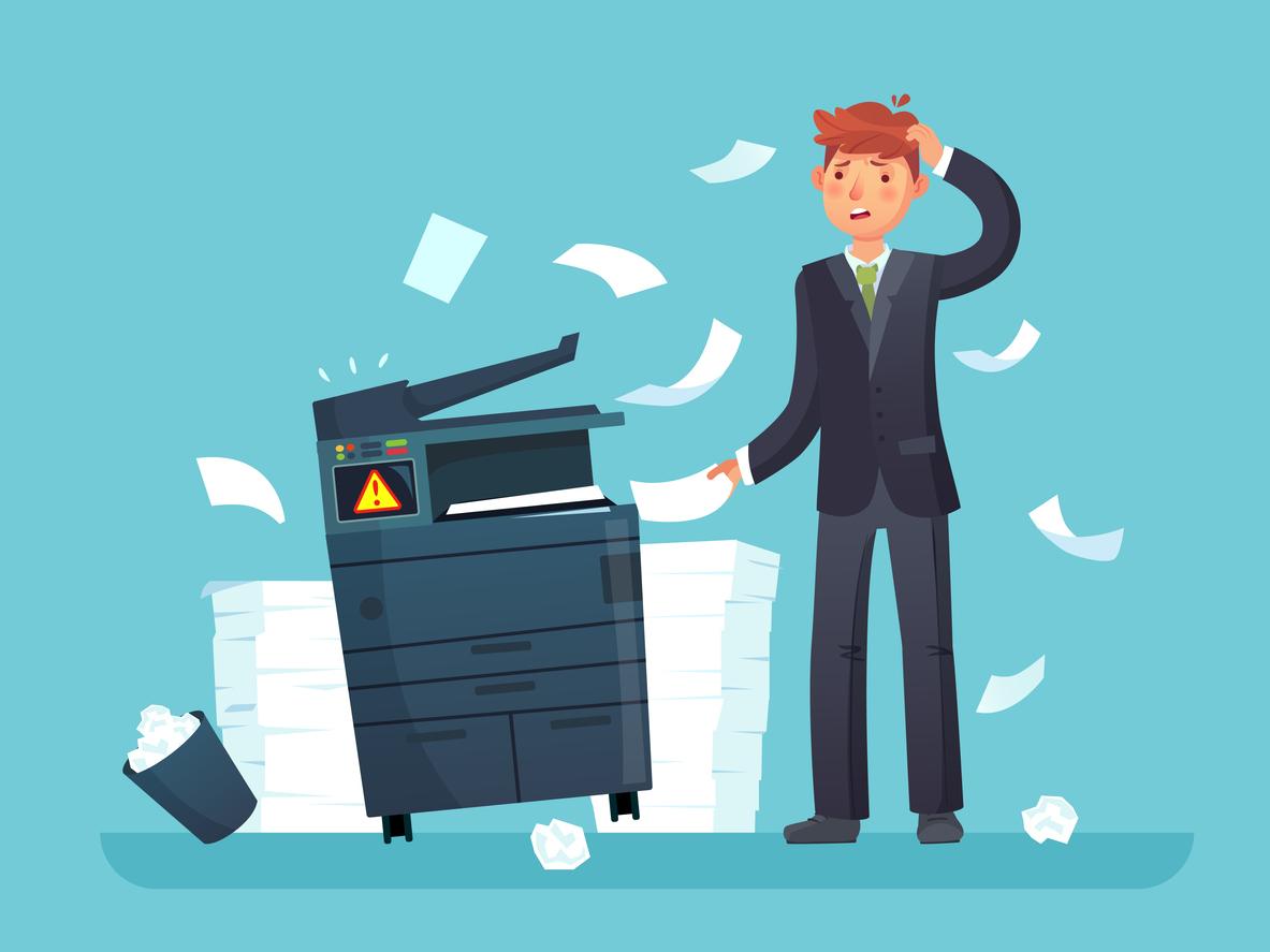 Problemas más comunes de una impresora multifuncional